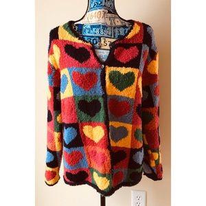 Talbots | hearts sweater cardigan